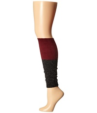 Steve Madden Slouch Marl Leg Warmer Black Maroon Women's Knee High Socks Shoes Burgundy