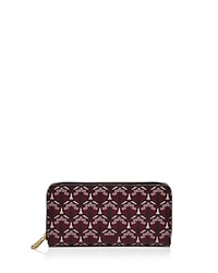 Liberty London Liberty Of London Large Zip Around Wallet Oxblood