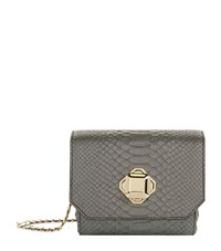 Elie Saab Mini Metallic Snake Cross Body Bag Female Grey