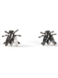 Tom Binns Fly Stud Earrings Metallic