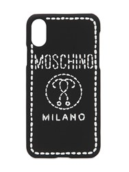 Moschino Logo Embroidered Iphone X Cover Black