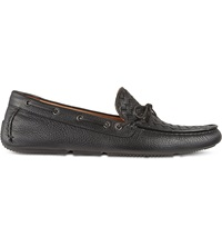 Bottega Veneta Cervo Leather Moccasins Black