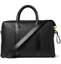 Tom Ford Buckley Leather Briefcase Black