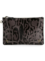 Jerome Dreyfuss Large 'Popoche' Clutch Grey