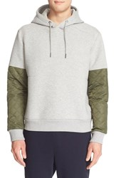 Men's Moncler Colorblock Quilted Sleeve Hoodie