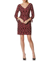 Laundry By Shelli Segal Printed Jersey Dress Red