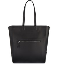 Maison Martin Margiela Grained Leather Tote Black