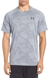 Under Armour Men's Regular Fit Tech Jacquard T Shirt Peacock
