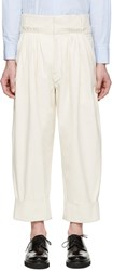 J.W.Anderson Off White Pleated Wide Leg Trousers