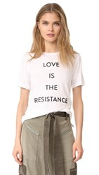 Prabal Gurung Love Is The Resistance Tee White