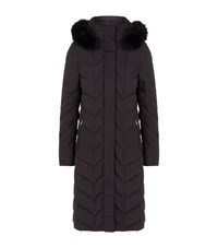 Fuchs And Schmitt Fur Trim Long Quilted Coat Female Black
