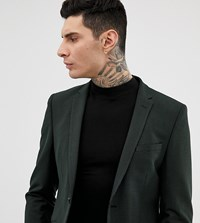 Heart And Dagger Slim Suit Jacket In Mini Pattern Black
