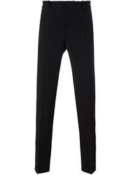 Tom Rebl Regular Tailored Trousers Black