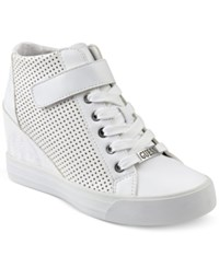 Guess Women's Decia Wedge Sneakers Women's Shoes White