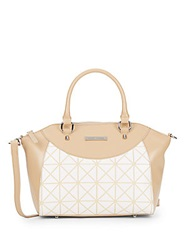 Charles Jourdan Lizzy Geo Print Leather Satchel