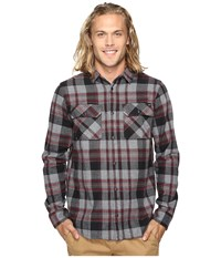 Fox Glamper Long Sleeve Flannel Graphite Men's Clothing Gray