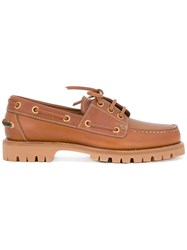 Gucci Classic Boat Shoes Brown