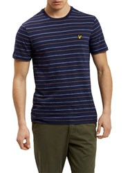 Lyle And Scott Pick Stitch T Shirt Navy