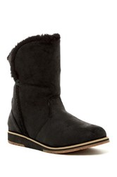 Emu Beach Lo Faux Fur Boot Black