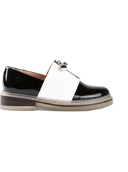 Carven Zip Loafers Black