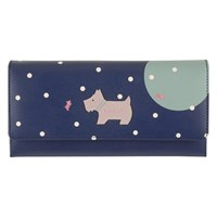 Radley Over The Moon Leather Large Purse Navy