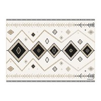 Hibernica Kathmandu Abstract Vinyl Placemat Black White