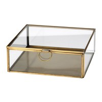 Broste Copenhagen Janni Trinket Box Brass Glass Medium