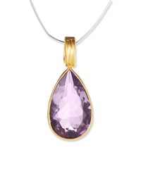 Dina Mackney Amethyst Teardrop Pendant Purple