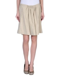 Mauro Grifoni Knee Length Skirts Beige