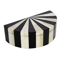 Amara Black White Semi Circle Box