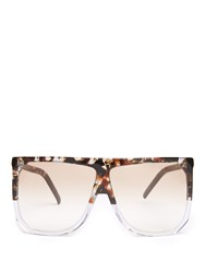 Loewe Filipa D Frame Acetate Sunglasses Brown Multi