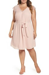 Daniel Rainn Plus Size Women's Lace Trim A Line Dress