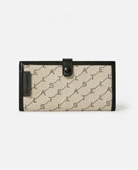 Stella Mccartney Beige Monogram Continental Wallet