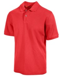 Club Room Short Sleeve Solid Estate Performance Sun Protection Polo Lipstick Coral
