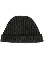 Marni Knitted Beanie Hat Grey