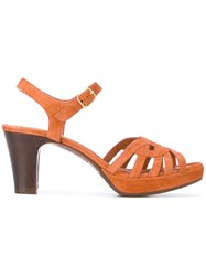 Chie Mihara Inga Sandals Leather Suede Brown