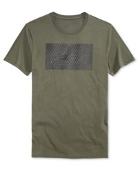 Armani Exchange Men's Foundation Triangulation T Shirt New Green