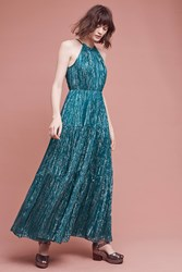 Anthropologie Celestial Halter Gown Dark Turquoise