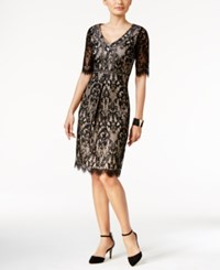 Thalia Sodi Lace Sheath Dress Only At Macy's Deep Black