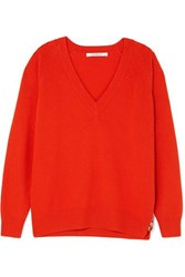 Givenchy Wool And Cashmere Blend Sweater Red