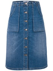 Fat Face Alexa Denim Skirt Blue