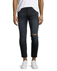 One Teaspoon Mr. Blues Whiskered Knee Cut Jeans Black