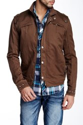 Affliction Military Grunge Jacket Brown