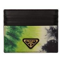 Prada Ssense Exclusive Black Tie Dye Card Holder