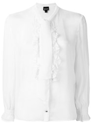 Just Cavalli Ruffle Front Blouse Women Viscose 40 White