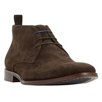 Dune Murray Suede Formal Chukka Boots Brown