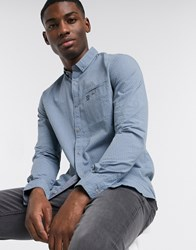 Tom Tailor Structured Shirt In Pale Blue