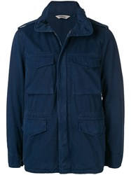 Aspesi Multiple Pockets Jacket Blue