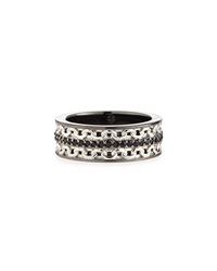 Men's Silver Ring With Black Sapphire Stephen Webster