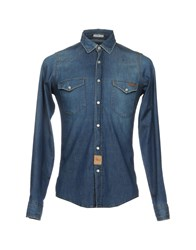 Roy Rogers Roger's Denim Shirts Blue